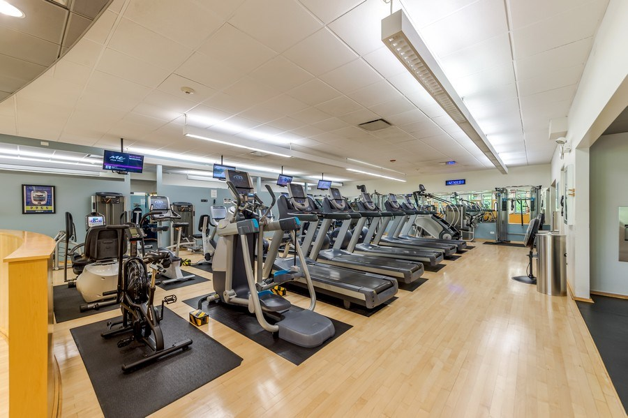 Real Estate Photography - 505 N Lakeshore Dr, Unit 3907, Chicago, IL, 60611 - Gym