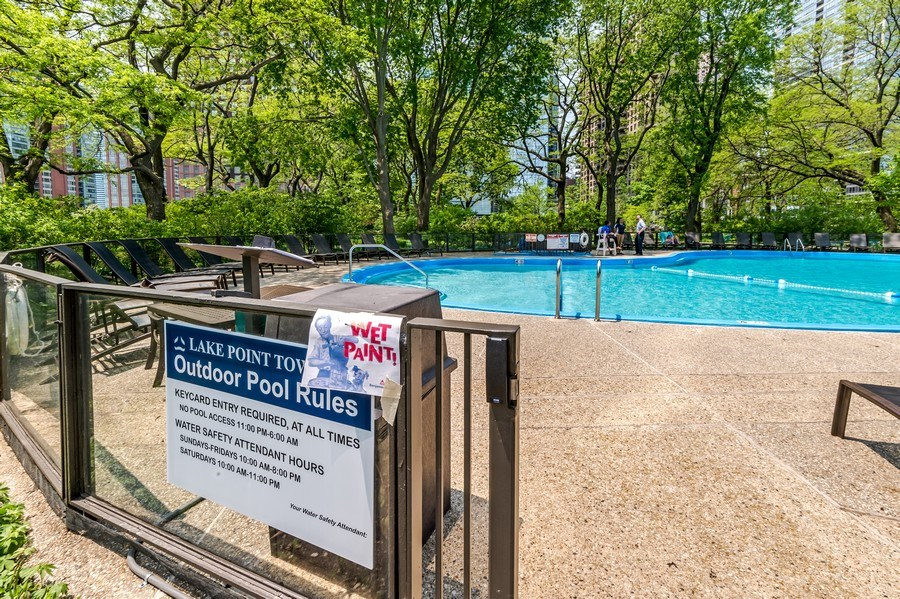 Real Estate Photography - 505 N Lakeshore Dr, Unit 3907, Chicago, IL, 60611 - Pool