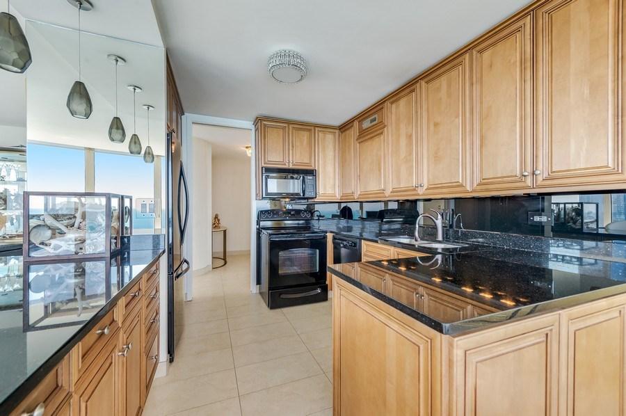 Real Estate Photography - 505 N Lakeshore Dr, Unit 3907, Chicago, IL, 60611 - Kitchen