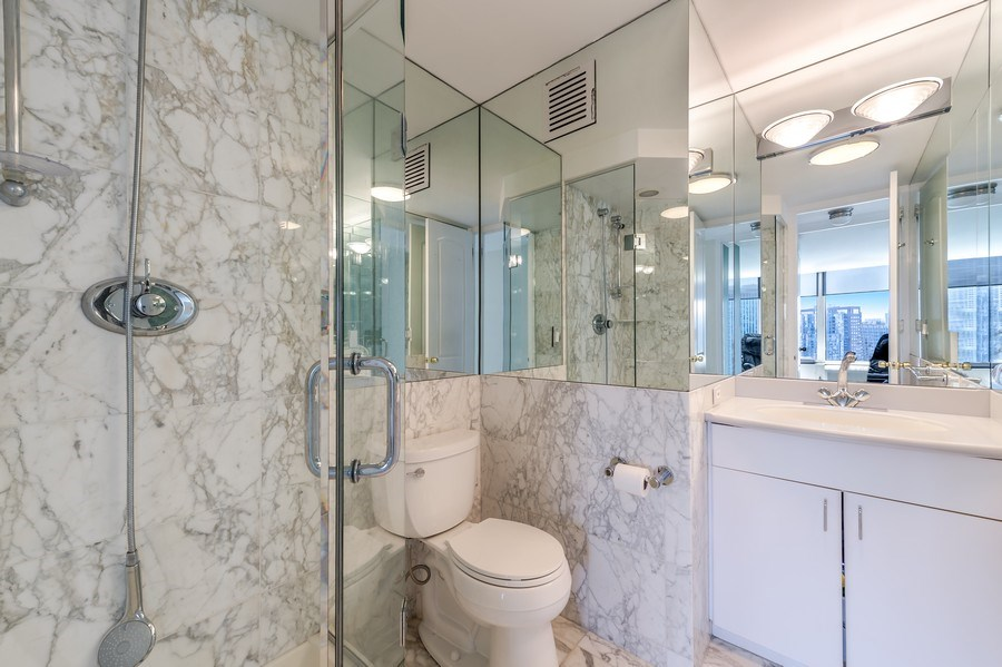 Real Estate Photography - 505 N Lakeshore Dr, Unit 3907, Chicago, IL, 60611 - Bathroom