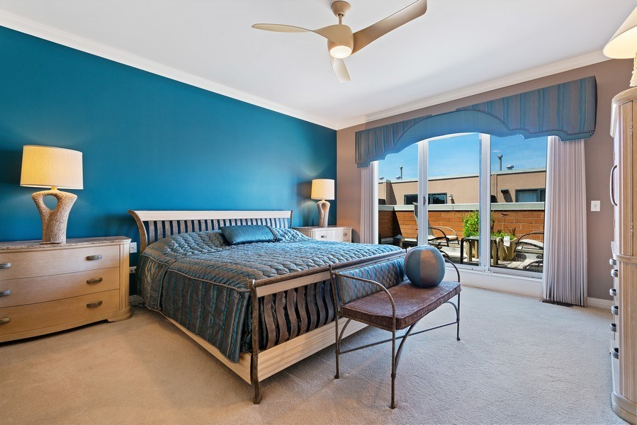 Real Estate Photography - 1117 W. Monroe St, #19, Chicago, IL, 60607 - Master Bedroom