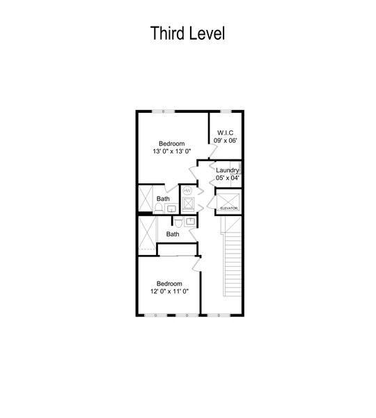 Real Estate Photography - 1117 W. Monroe St, #19, Chicago, IL, 60607 - Floor Plan