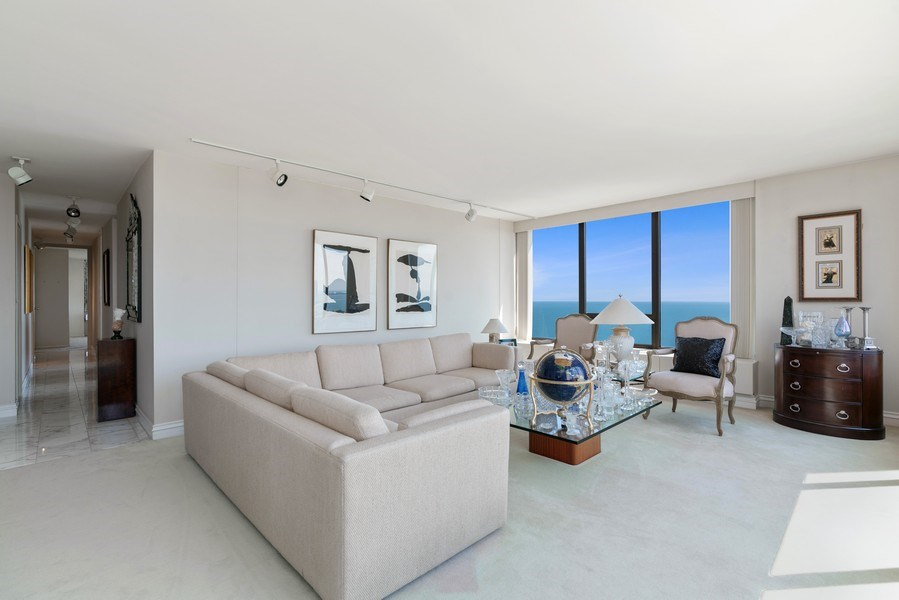 Real Estate Photography - 2800 N. Lake Shore Dr, #3401-3402, Chicago, IL, 60657 - Living Room