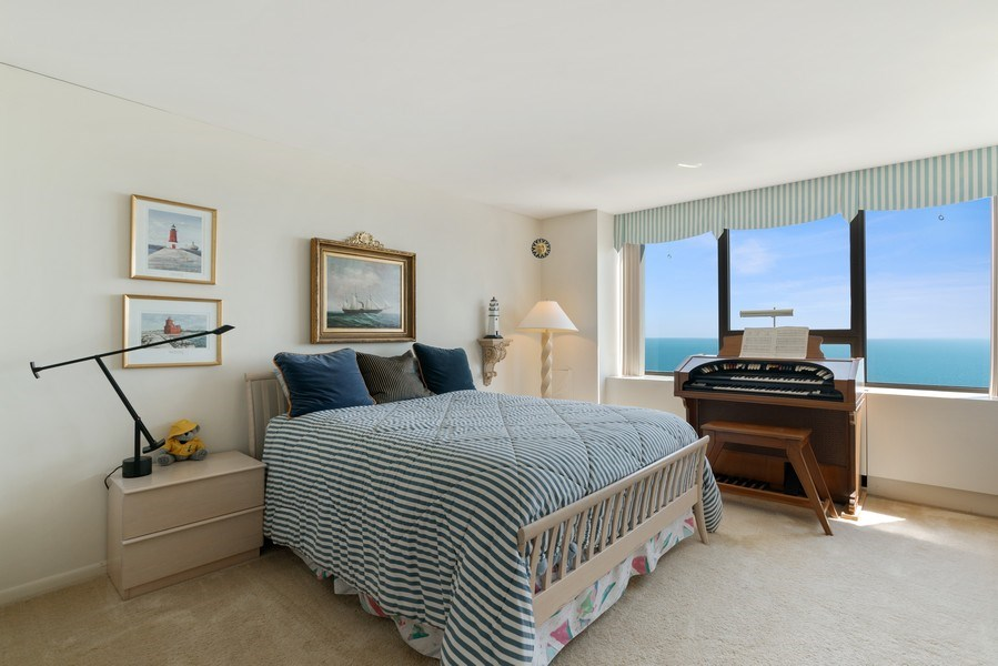 Real Estate Photography - 2800 N. Lake Shore Dr, #3401-3402, Chicago, IL, 60657 - 2nd Bedroom