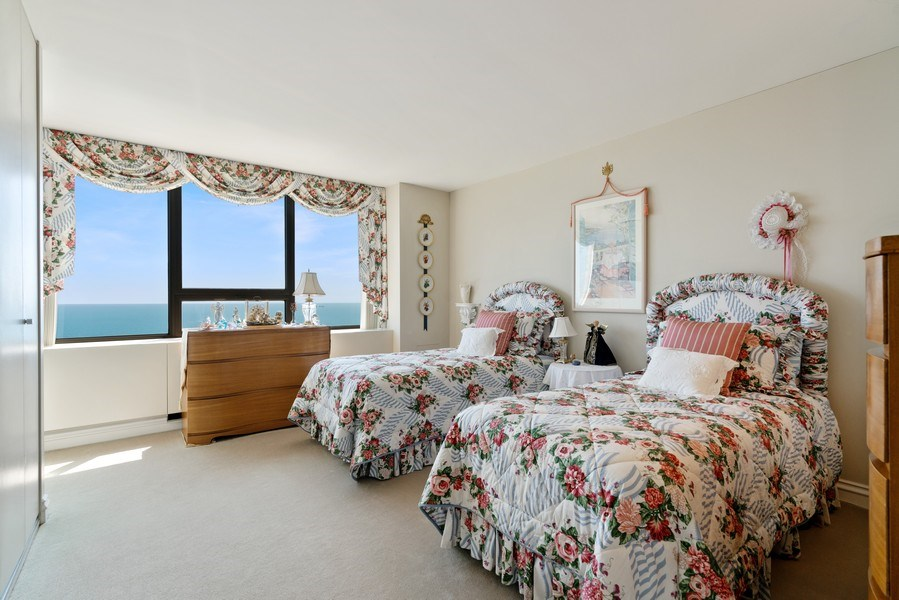 Real Estate Photography - 2800 N. Lake Shore Dr, #3401-3402, Chicago, IL, 60657 - 3rd Bedroom