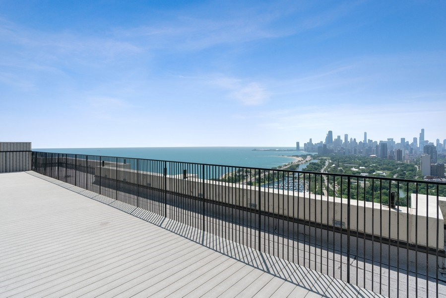 Real Estate Photography - 2800 N. Lake Shore Dr, #3401-3402, Chicago, IL, 60657 - Roof Deck