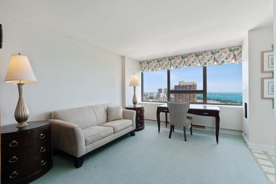 Real Estate Photography - 2800 N. Lake Shore Dr, #3401-3402, Chicago, IL, 60657 - Family Room