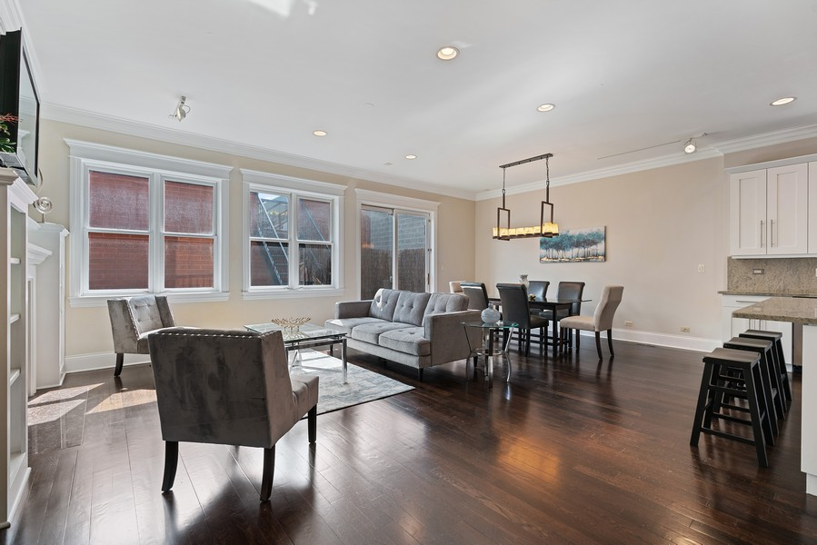 Real Estate Photography - 2663 N. Ashland Ave, #1S, Chicago, IL, 60614 - Living Room
