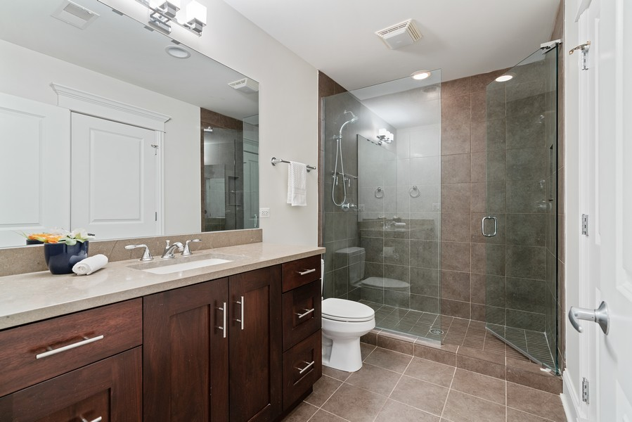 Real Estate Photography - 2663 N. Ashland Ave, #1S, Chicago, IL, 60614 - 3rd Bathroom