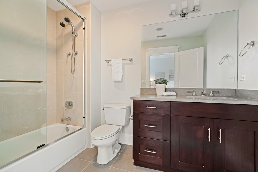 Real Estate Photography - 2663 N. Ashland Ave, #1S, Chicago, IL, 60614 - 4th Bathroom