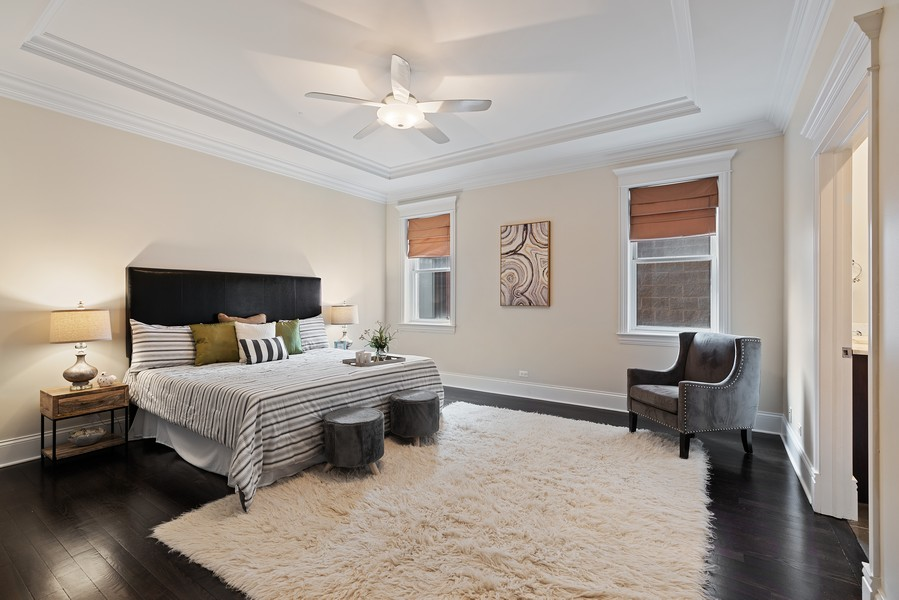 Real Estate Photography - 2663 N. Ashland Ave, #1S, Chicago, IL, 60614 - Master Bedroom