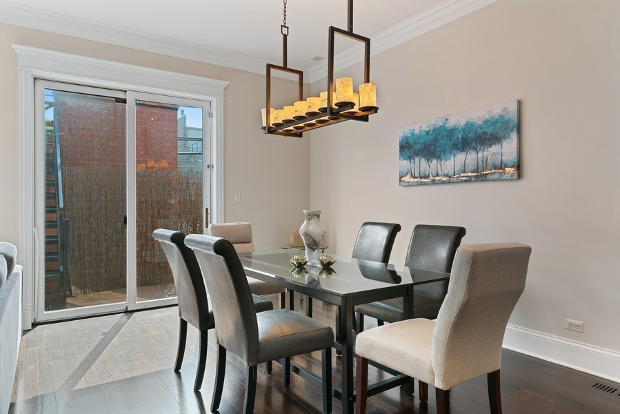 Real Estate Photography - 2663 N. Ashland Ave, #1S, Chicago, IL, 60614 - Dining Room