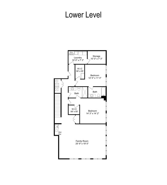 Real Estate Photography - 2663 N. Ashland Ave, #1S, Chicago, IL, 60614 - Floor Plan