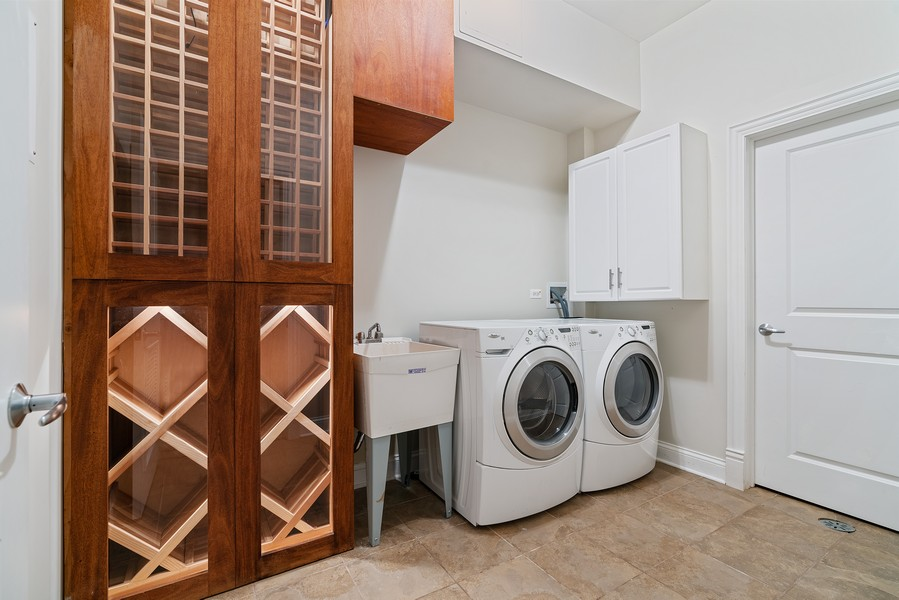 Real Estate Photography - 2663 N. Ashland Ave, #1S, Chicago, IL, 60614 - Laundry Room