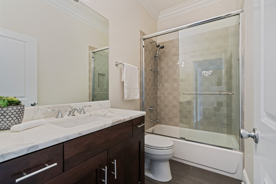 Real Estate Photography - 2663 N. Ashland Ave, #1S, Chicago, IL, 60614 - 2nd Bathroom