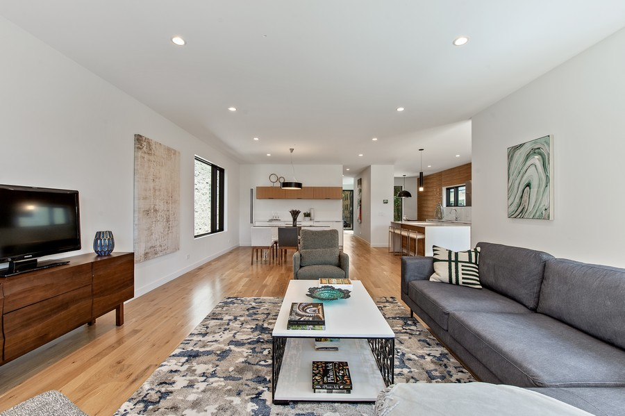 Real Estate Photography - 6074 N. Hermitage, Chicago, IL, 60660 - Living Room