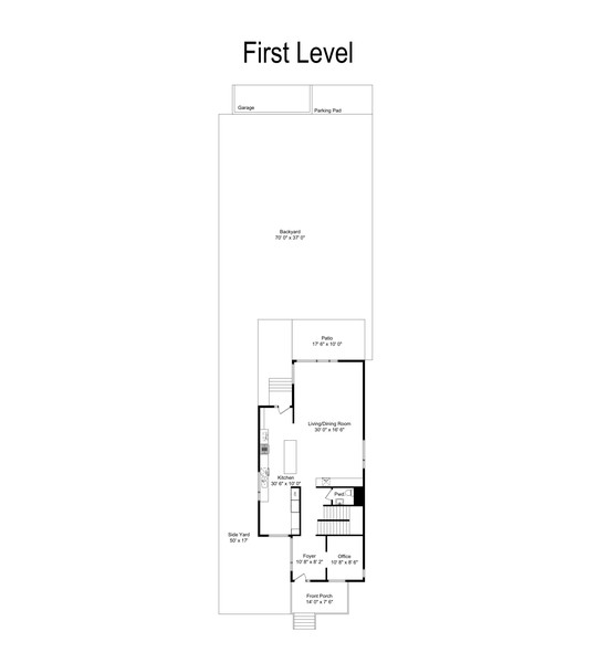 Real Estate Photography - 6074 N. Hermitage, Chicago, IL, 60660 - Floor Plan