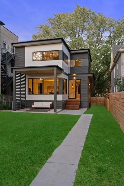 Real Estate Photography - 6074 N. Hermitage, Chicago, IL, 60660 - Rear View