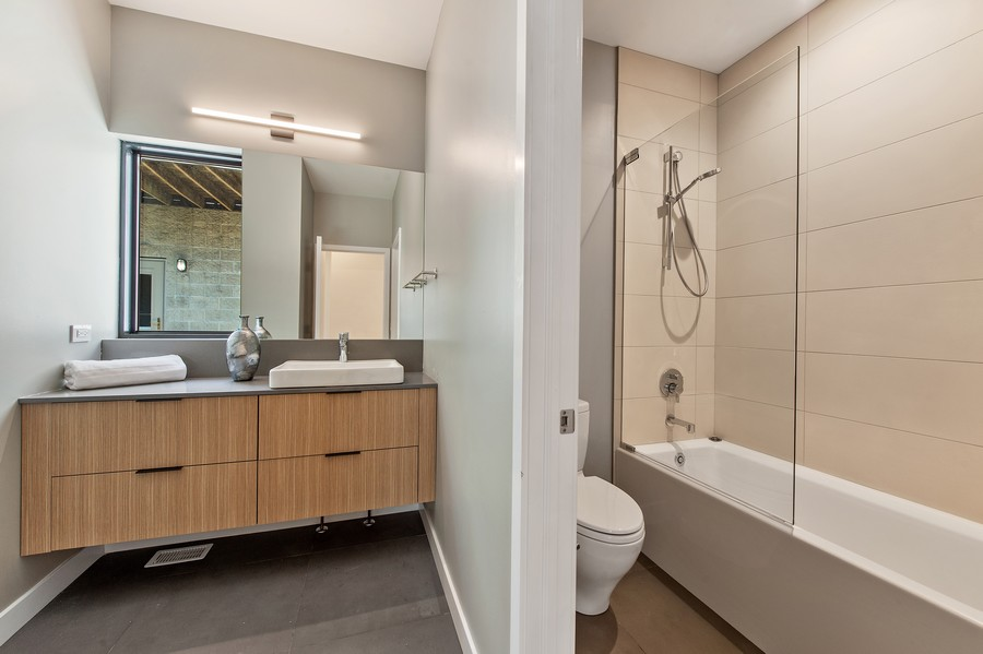 Real Estate Photography - 6074 N. Hermitage, Chicago, IL, 60660 - 2nd Bathroom