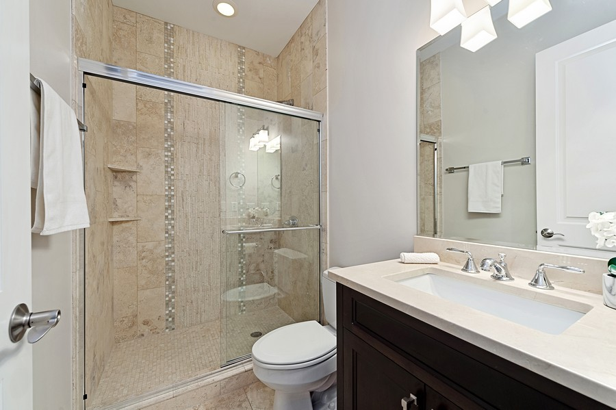 Real Estate Photography - 2019 W. Melrose St, Chicago, IL, 60618 - 3rd Bathroom