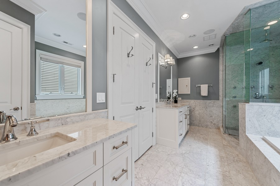 Real Estate Photography - 2019 W. Melrose St, Chicago, IL, 60618 - Master Bathroom