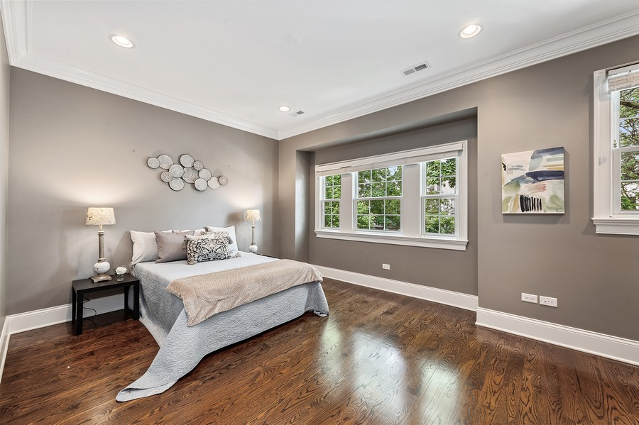 Real Estate Photography - 2019 W. Melrose St, Chicago, IL, 60618 - 2nd Bedroom