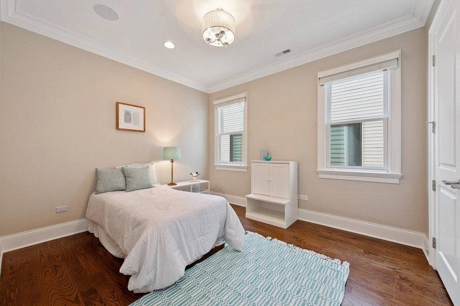 Real Estate Photography - 2019 W. Melrose St, Chicago, IL, 60618 - 3rd Bedroom