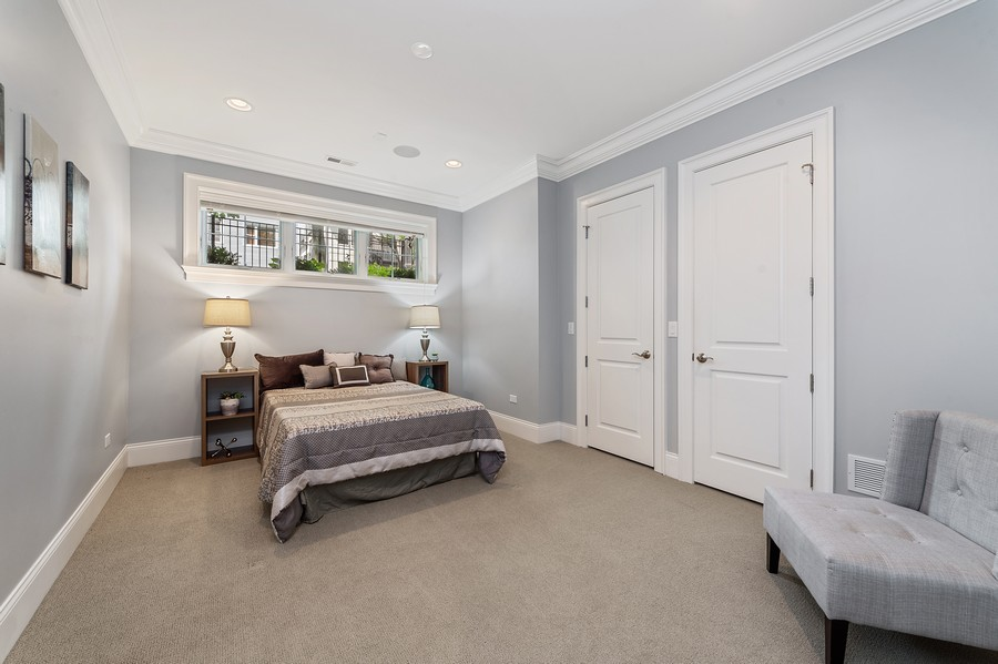 Real Estate Photography - 2019 W. Melrose St, Chicago, IL, 60618 - 4th Bedroom
