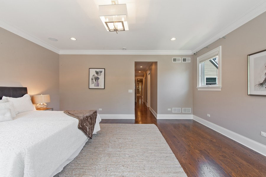 Real Estate Photography - 2019 W. Melrose St, Chicago, IL, 60618 - Master Bedroom