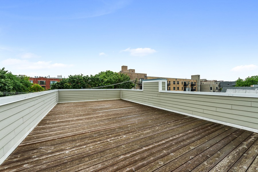 Real Estate Photography - 2019 W. Melrose St, Chicago, IL, 60618 - Roof Deck