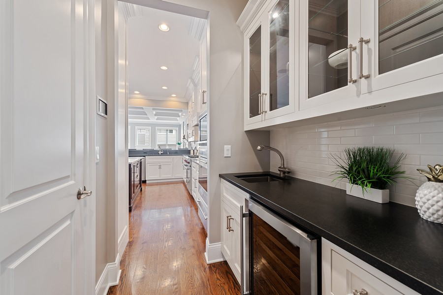 Real Estate Photography - 2019 W. Melrose St, Chicago, IL, 60618 - Butler's pantry