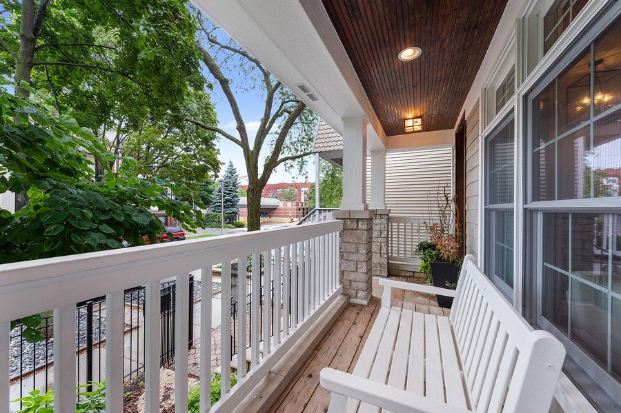 Real Estate Photography - 2019 W. Melrose St, Chicago, IL, 60618 - Porch
