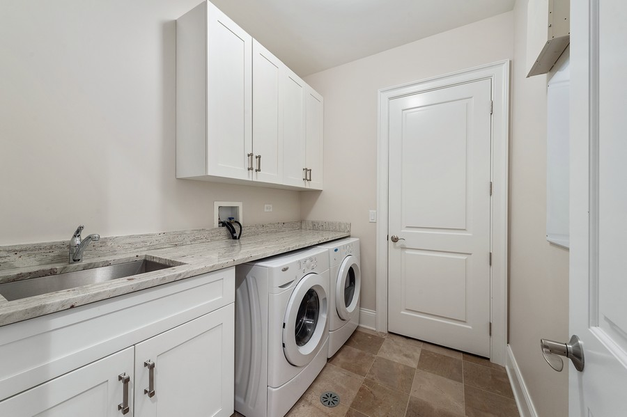 Real Estate Photography - 2019 W. Melrose St, Chicago, IL, 60618 - Laundry Room