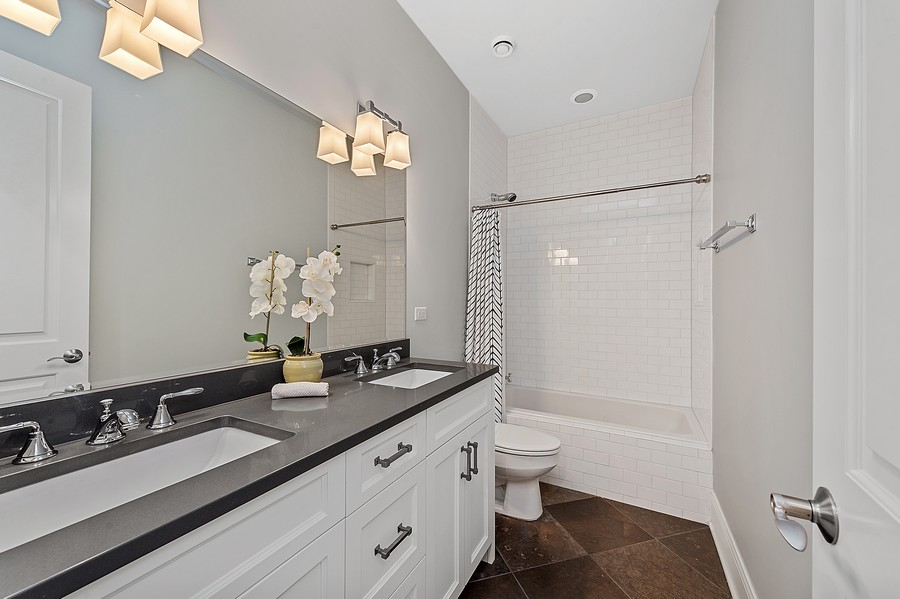 Real Estate Photography - 2019 W. Melrose St, Chicago, IL, 60618 - 2nd Bathroom