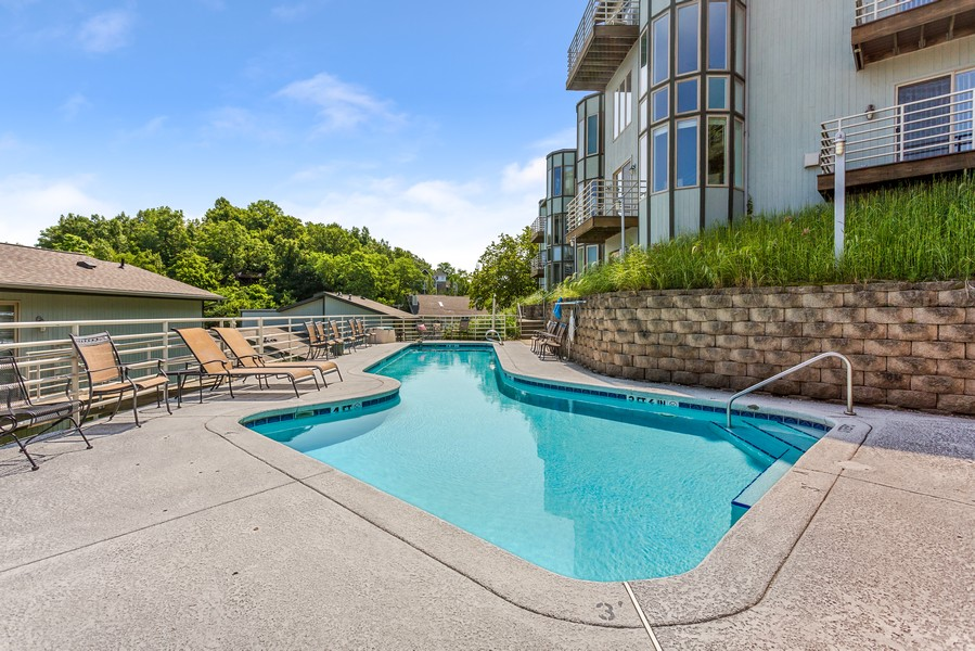 Real Estate Photography - 333 lake Shore Drive, Unit B-3, Michigan City, IN, 46360 - Pool