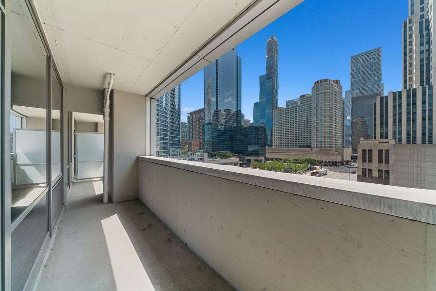 Real Estate Photography - 240 E. Illinois St, #606, Chicago, IL, 60611 - Balcony