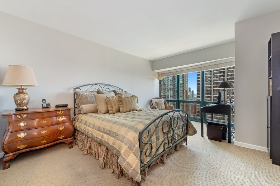Real Estate Photography - 100 E Huron St, Unit 1701, Chicago, IL, 60611 - Master Bedroom