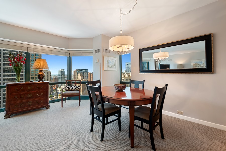 Real Estate Photography - 100 E Huron St, Unit 1701, Chicago, IL, 60611 - Dining Room
