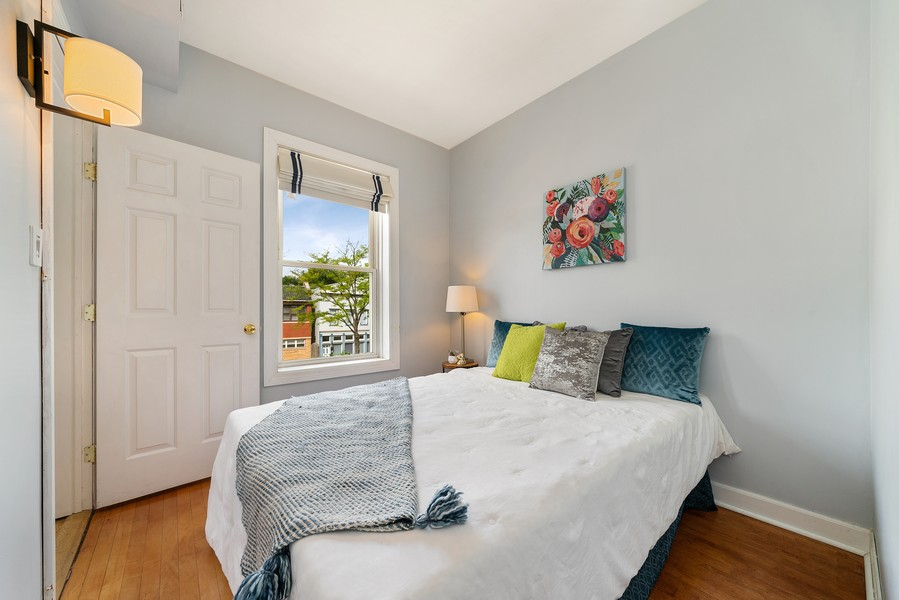 Real Estate Photography - 3623 N. Ashland, #2, Chicago, IL, 60613 - 2nd Bedroom