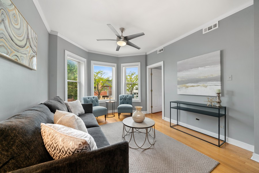 Real Estate Photography - 3623 N. Ashland, #2, Chicago, IL, 60613 - Living Room