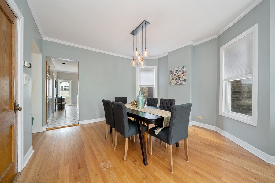 Real Estate Photography - 3623 N. Ashland, #2, Chicago, IL, 60613 - Dining Room