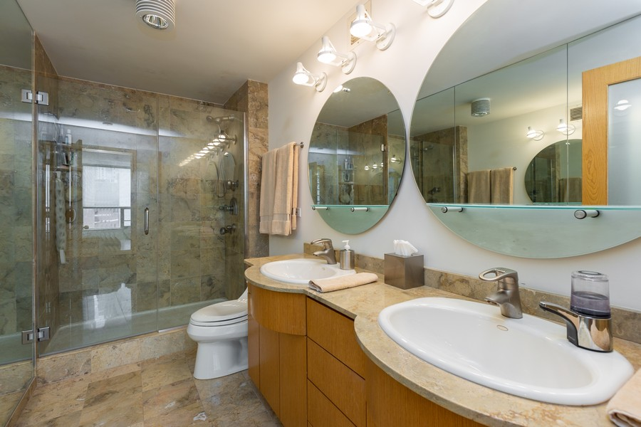 Real Estate Photography - 110 E. Delaware Place, 1804, Chicago, IL, 60611 - Master Bathroom
