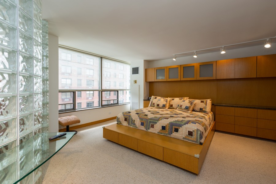 Real Estate Photography - 110 E. Delaware Place, 1804, Chicago, IL, 60611 - Master Bedroom
