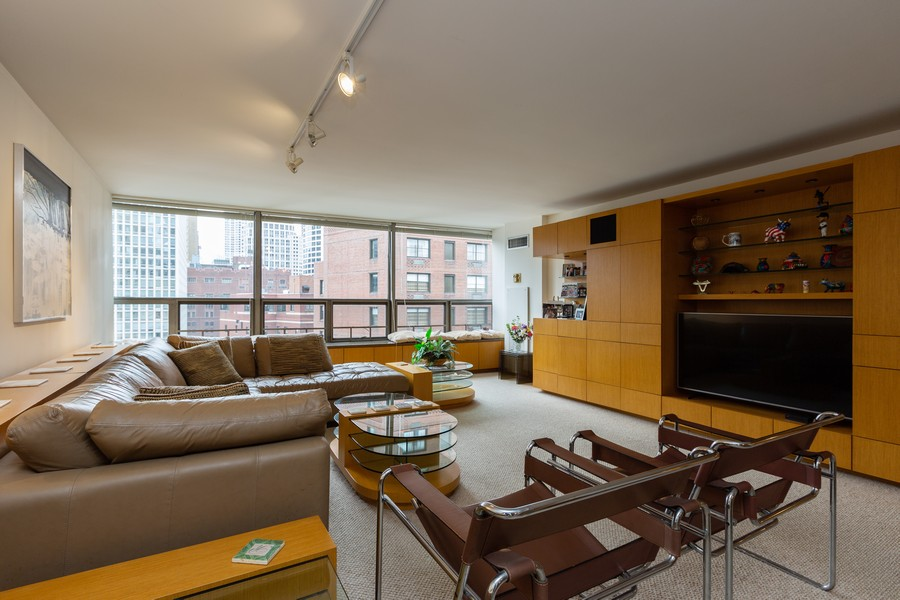 Real Estate Photography - 110 E. Delaware Place, 1804, Chicago, IL, 60611 - Living Room