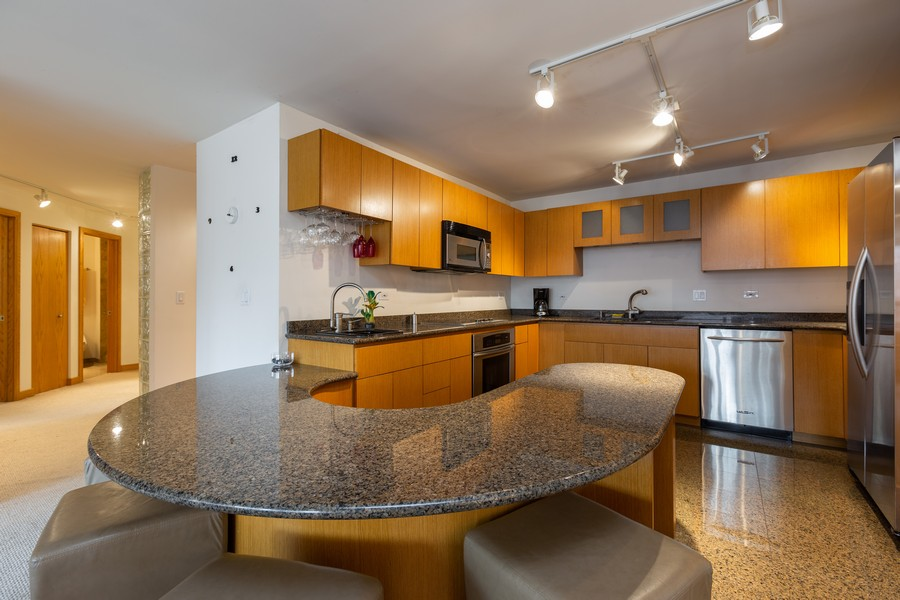 Real Estate Photography - 110 E. Delaware Place, 1804, Chicago, IL, 60611 - Kitchen