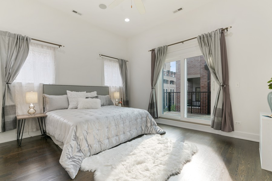 Real Estate Photography - 6 N. Throop St, #4S, Chicago, IL, 60607 - Master Bedroom