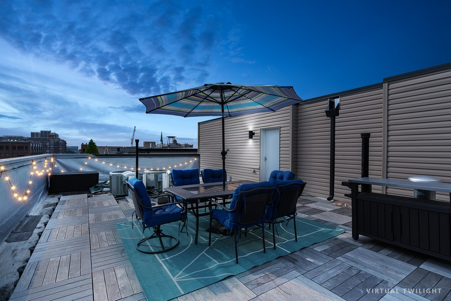 Real Estate Photography - 6 N. Throop St, #4S, Chicago, IL, 60607 - Roof Deck