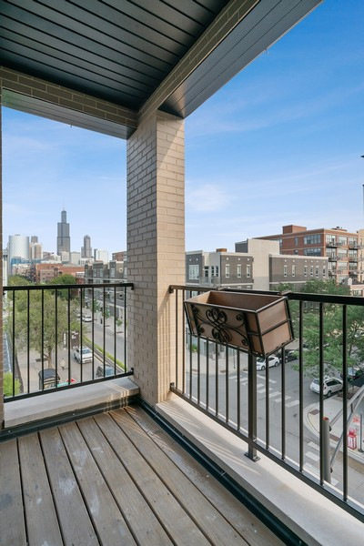 Real Estate Photography - 6 N. Throop St, #4S, Chicago, IL, 60607 - Balcony