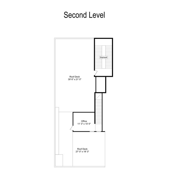 Real Estate Photography - 6 N. Throop St, #4S, Chicago, IL, 60607 - Floor Plan