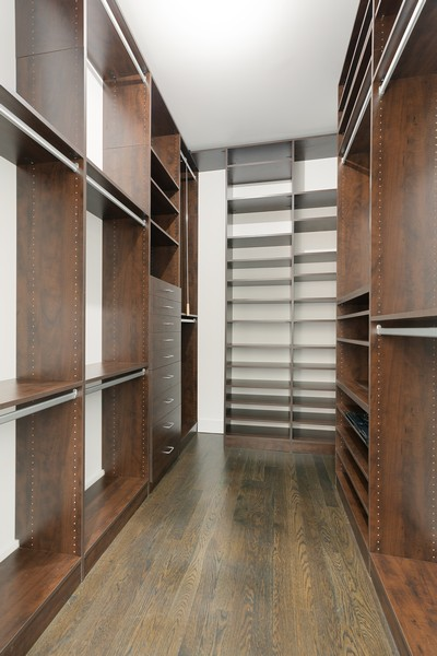 Real Estate Photography - 6 N. Throop St, #4S, Chicago, IL, 60607 - Master Bedroom Closet
